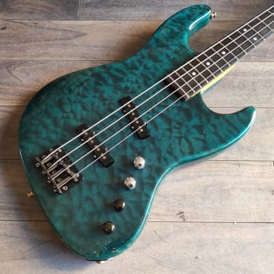 1995 Moon PGM JJ-4 Jazz Bass (Quilt Top) - Made in Japan for sale