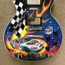 "Gibson Les Paul Custom Shop Pepsi 300 Nashville Speedway ""Artist Sam Bass collaboration with Gibson"""