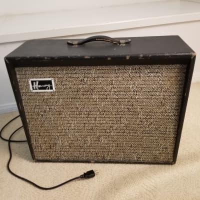 1968 Harmony H-306 Tube Amplifier, Black, 12
