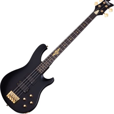 Schecter Signature Johnny Christ Electric Bass in Satin Black Finish for sale