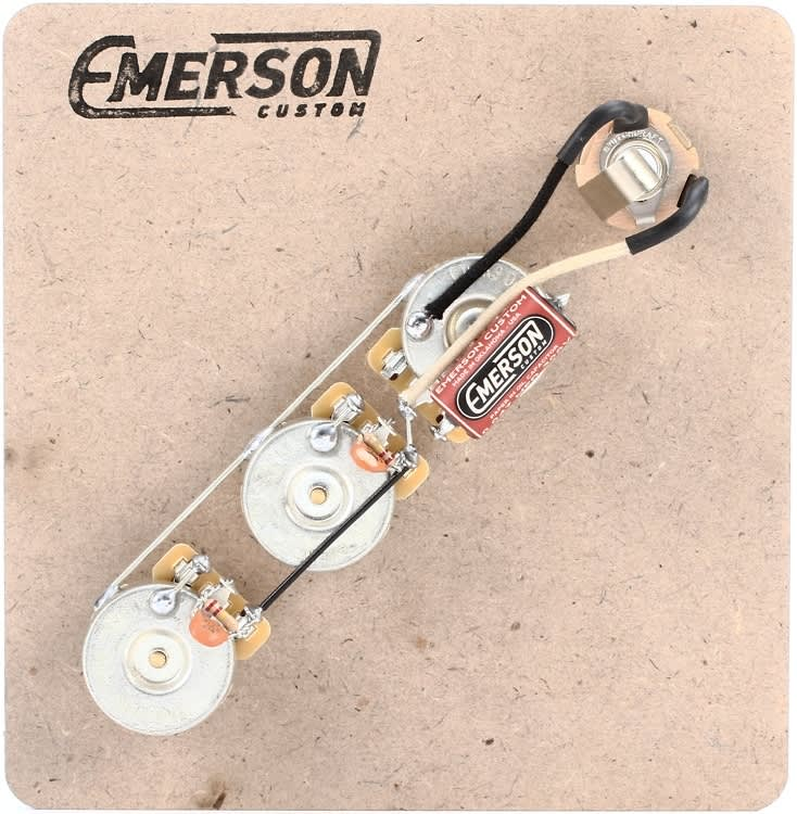 Emerson Les Paul Wiring Harness : Emerson custom prewired kit for fender jazz bass