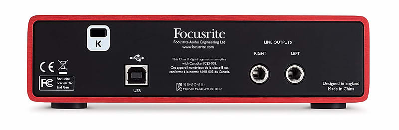 focusrite scarlett 2i2 usb audio interface 2019 brand new reverb. Black Bedroom Furniture Sets. Home Design Ideas
