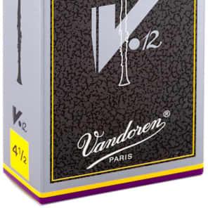 Vandoren CR6145  V12 Series Eb Clarinet Reeds - Strength 4.5 (Box of 10)
