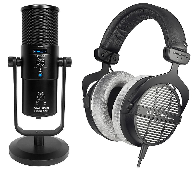 m audio uber mic gaming twitch stream microphone dt 990 reverb. Black Bedroom Furniture Sets. Home Design Ideas