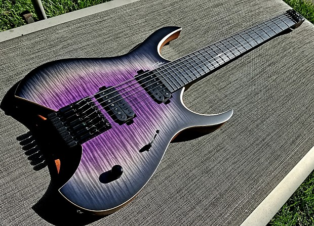Mayones Hydra 7 Brand New 5a Flamed Maple Ss Frets