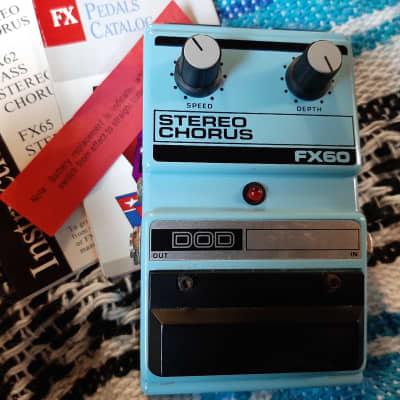 DOD Stereo Chorus FX60 *Collector Alert* original box/paperwork for sale
