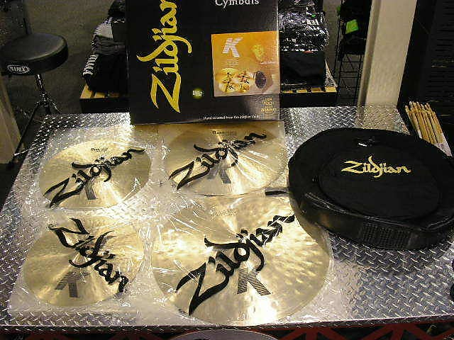New Zildjian K Light Pack, 22,19,17,15 Pair with Cymbal Bag