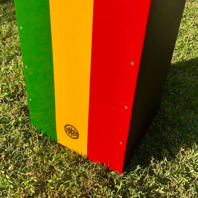 Gon Bops Cajon 3 color prototype Green, yellow, red and black