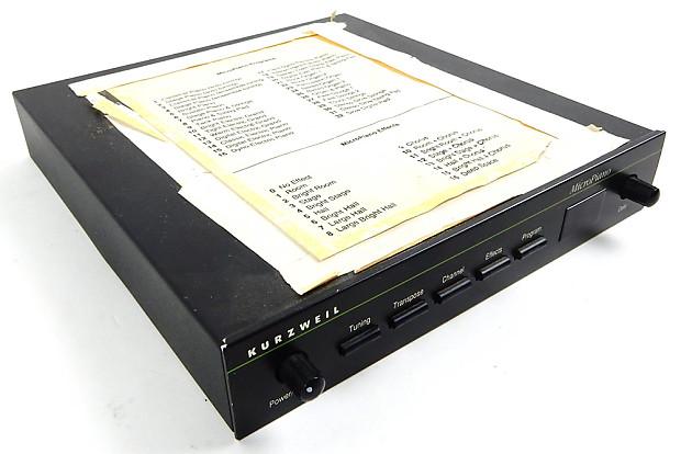 kurzweil micropiano midi sound module micro piano rack reverb. Black Bedroom Furniture Sets. Home Design Ideas