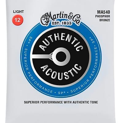 Martin MA540 SP Phosphor Bronze Light Authentic Acoustic Guitar Strings