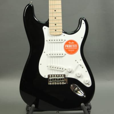 Squier Affinity Series Stratocaster (Black w Maple Neck) for sale