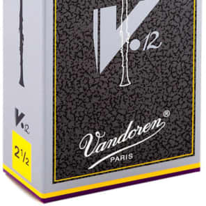 Vandoren CR6125 V12 Series Eb Clarinet Reeds - Strength 2.5 (Box of 10)