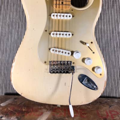 RebelRelic Gilmour 0001 54 strat inspired  2012 Smoked Olympic white for sale