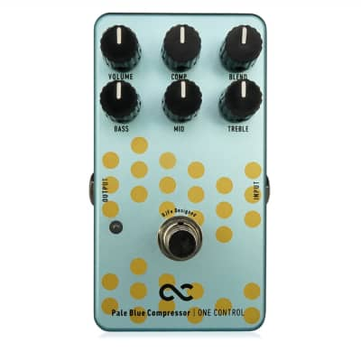 One Control Pale Blue Compressor True Bypass Guitar Effects Pedal