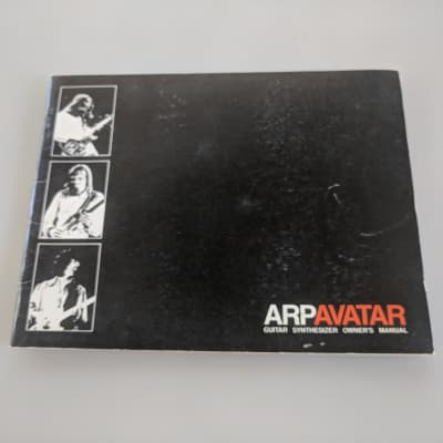 Original owners manual for the ARP Avatar 1977