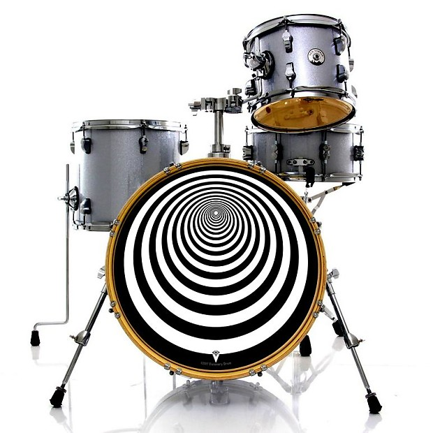tunnel graphic drum skin for bass snare and tom drums all reverb. Black Bedroom Furniture Sets. Home Design Ideas