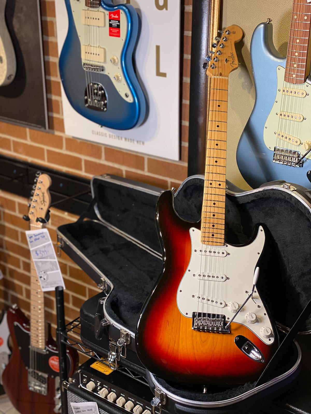 2008 Fender American Standard Stratocaster with case