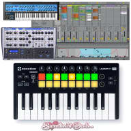 Novation Launchkey Mini MK2 25-Key USB and MIDI Controller + Ableton Live LIte