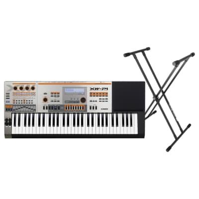 Casio XW-P1 61-Key Synthesizer Keyboard Bundle Silver - 61 Key
