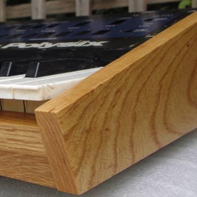 Wooden Case Analog Synthesizer for Korg Polysix Ash Wood