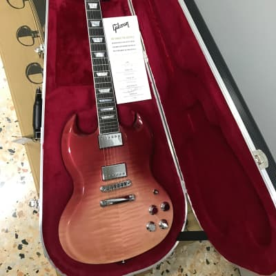 Gibson SG Standard HP-II 2018 - P8 H2SGS18P8CH1 Hot Pink Fade for sale
