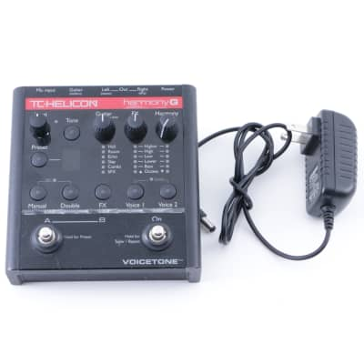 TC Helicon Voicetone Harmony G Vocal Effects Pedal & Power Supply P-08200
