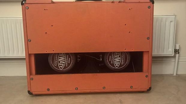 2x12 Guitar Combo Cabinet Orange With Fane Hiwatt