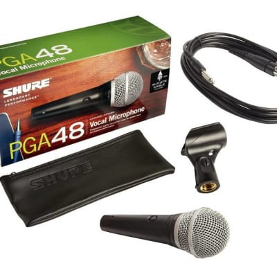 Shure PGA48-QTR Vocal Microphone with 15' XLR to QTR Microphone Cable
