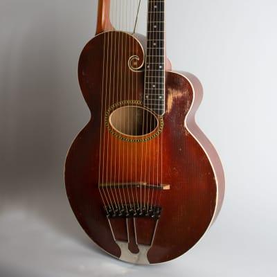 Gibson  Style U Harp Guitar (1917), ser. #39406, original black hard shell case. for sale