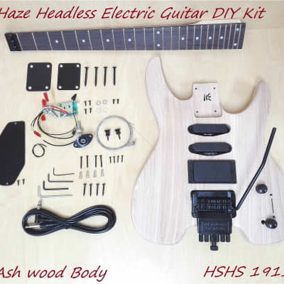 Haze Headless Solid Ashwood Body Electric Guitar HS 1911 DIY,S-S-H,No-Soldering for sale