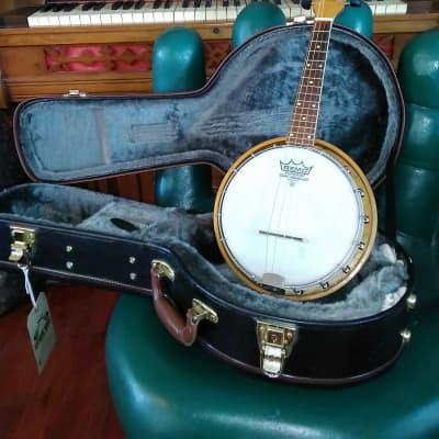 Vintage 1930's Concertone Resonator Banjo Ukulele + Hardcase for sale