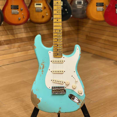 Fender Custom Shop 56 Heavy Relic Super Faded Aged Sea Foam Green Limited Edition Namm 2020 for sale