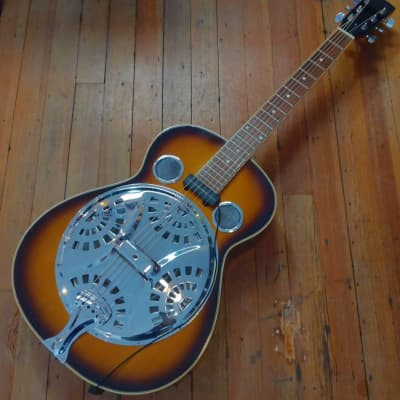 Regal RD-45 Roundneck Resonator 1995 Sunburst w/Barcus Berry Pickup #9502092 for sale
