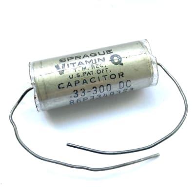 Sprague Vitamin Q Audio grade paper in oil capacitor MIL-specs 0,33uF / 300VDC for sale