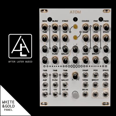 Antumbra Atom - Mutable Instruments Clone - (uElements / micro Elements) - White/Gold