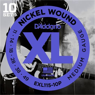 D'Addario EXL115 Electric Guitar Strings 10-PACK