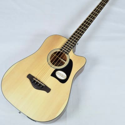 Ibanez AWB50CE-LG Artwood Series Acoustic Electric Bass in Natural Low Gloss Finish for sale
