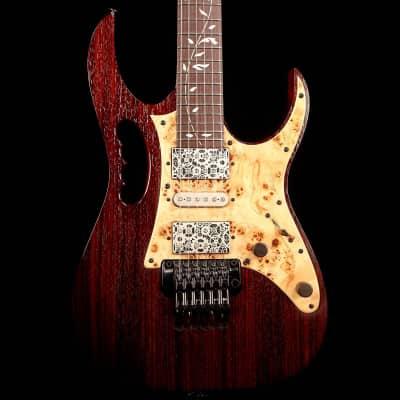 Ibanez JEM77WDP Steve Vai Signature Woody Charcoal Brown Low Gloss