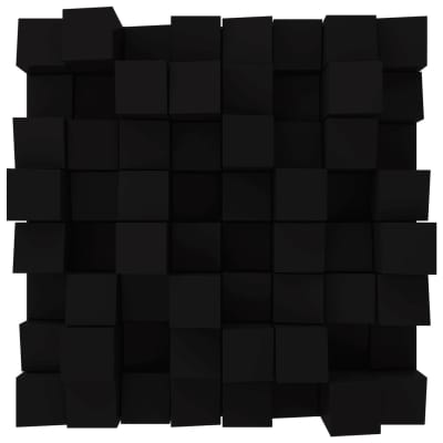 Vicoustic Multifuser Wood 64 MKII   Two-dimensional Diffuser   Box of 1 (Black Matte)