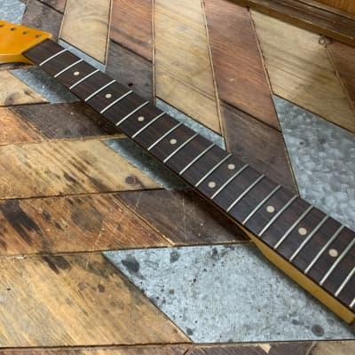 Allparts / Real Life Relics SRO-L Left Hand Strat Neck Fender Neck Amber Aged Nitro Lacquer Finish