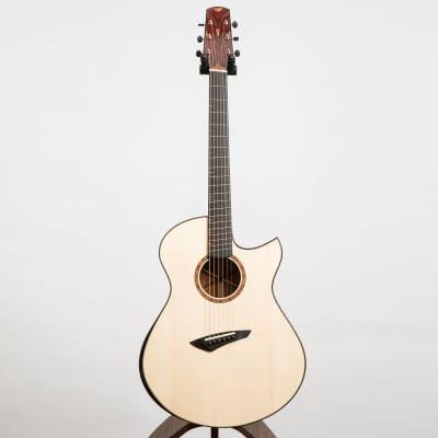 Bashkin SJ Fan Fret Cutaway Acoustic Guitar, Honduran Mahogany & Swiss Moon Spruce - Pre-Owned for sale