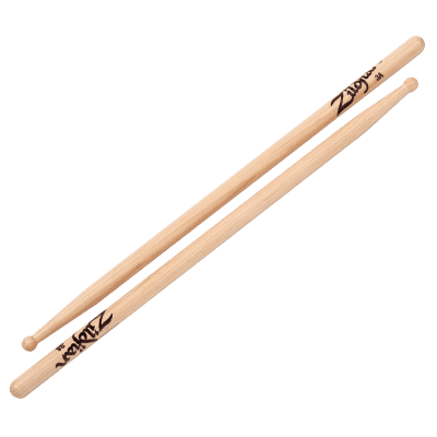 Zildjian 3AWN Hickory Series 3A Wood Tip Drum Sticks