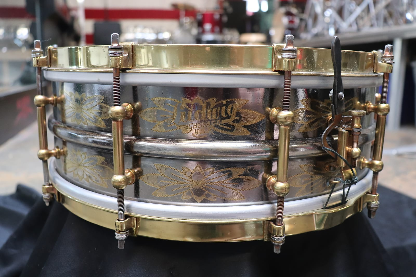 Ludwig 5x14 Black Beauty Snare 1930's