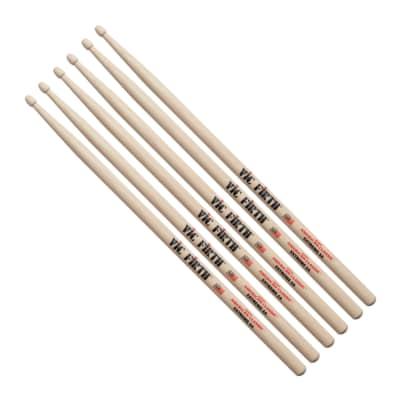 3 Pairs Vic Firth X5B Wood Tip American Classic Extreme 5B Drumsticks