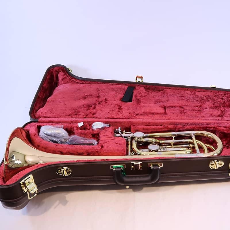 Yamaha YBL-822G Xeno Dual Rotor Bass Trombone in Bb/F/D Removable 2nd Rotor  SUPERB