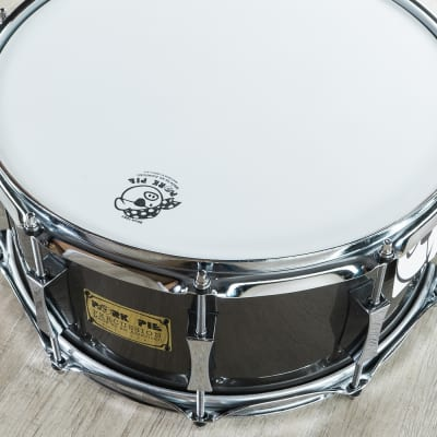 """Pork Pie Percussion 3-Ply Maple Shell Snare Drum, Pewter Metallic Lacquer Finish - 6.5 x 14"""""""