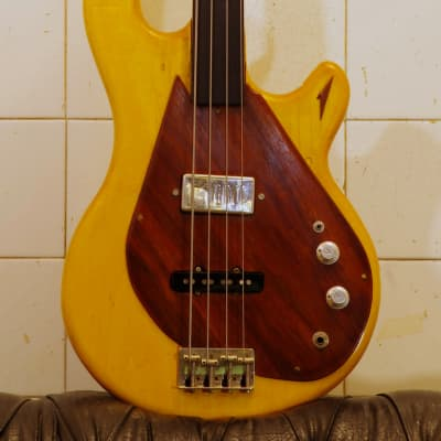 Kramer 250B modified, fretless aluminum neck, natural, late 70's for sale
