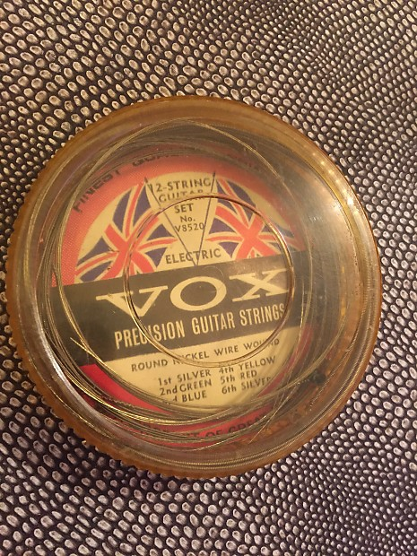 1960's Vox Precision Guitar Strings 12-String Electric Guitar Set Case  Candy Vintage XII