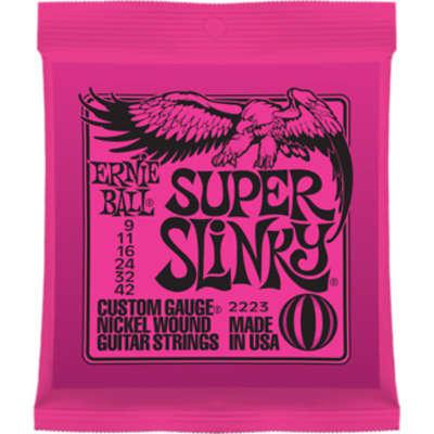 Ernie Ball Super Slinky Electric Guitar Strings 9-42
