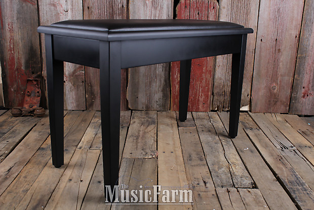 Admirable On Stage Kb8904B Deluxe Piano Bench With Storage Compartment Black Padded Vinyl Beatyapartments Chair Design Images Beatyapartmentscom